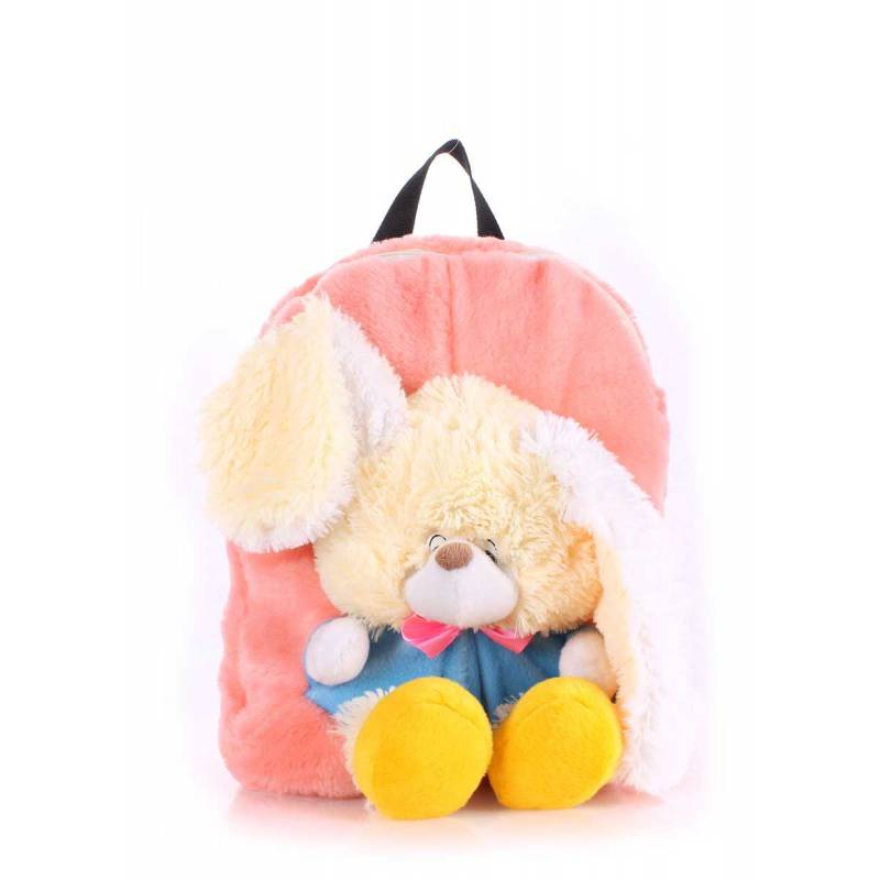 Детский рюкзак POOLPARTY с зайцем Kiddy Backpack Rabbit Rose