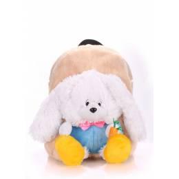 Детский рюкзак POOLPARTY с зайцем Kiddy Backpack Rabbit White