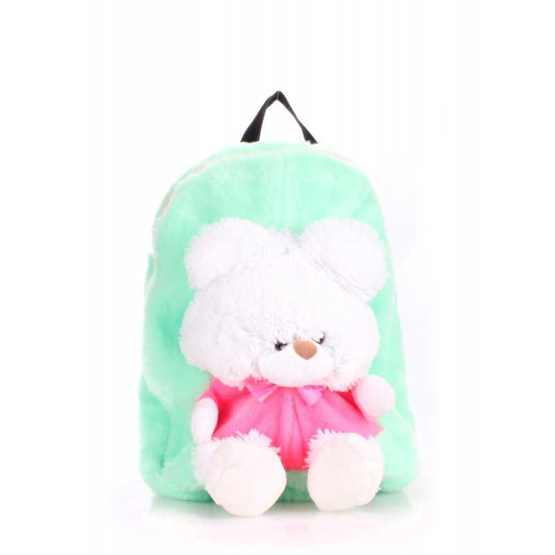 Детский рюкзак POOLPARTY с медведем Kiddy Backpack Teddybear Green