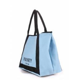 Коттоновая сумка POOLPARTY Laguna Blue