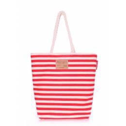 Коттоновая сумка POOLPARTY Laspalmas Red