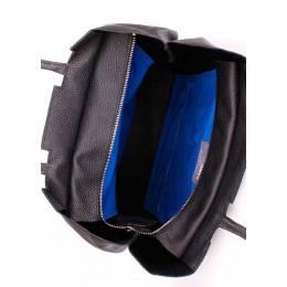 Кожаная сумка POOLPARTY #22 Black