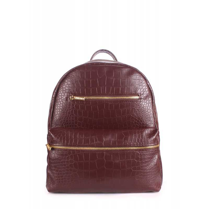 Рюкзак женский POOLPARTY Mini Bckpck Croco Brown