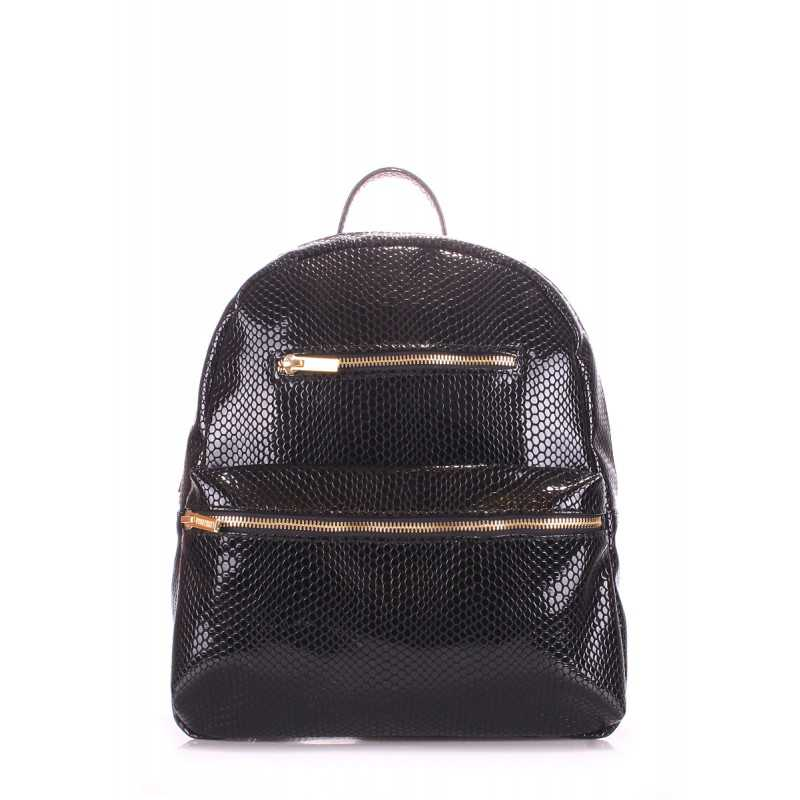 Рюкзак женский POOLPARTY Mini Bckpck Lizard Black