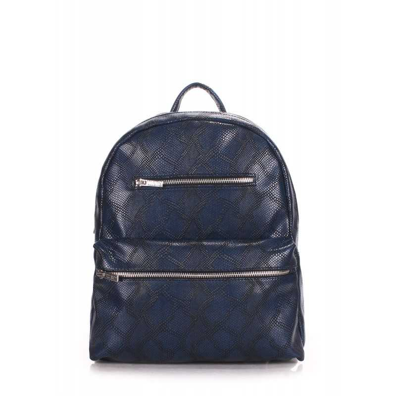 Рюкзак женский POOLPARTY Mini Bckpck Snake Darkblue