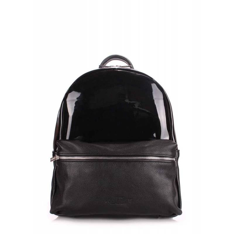 Женский кожаный рюкзак POOLPARTY Mini Bckpck Transparent Black