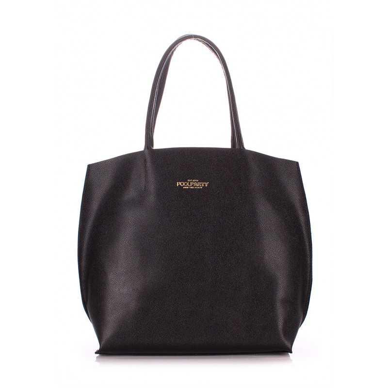 Кожаная сумка POOLPARTY Pearl Black