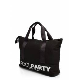Коттоновая сумка POOLPARTY Pool12 Black