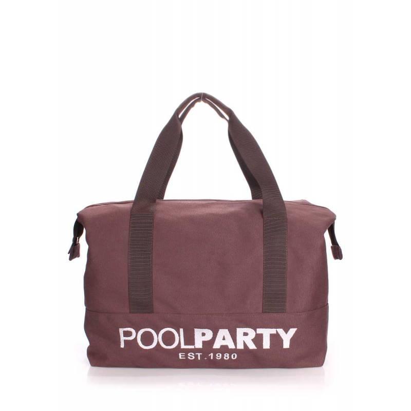 Коттоновая сумка POOLPARTY Pool 12 Brown