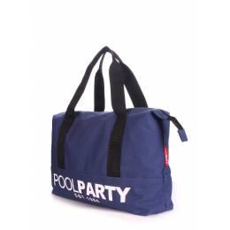 Коттоновая сумка POOLPARTY Pool 12 Darkblue