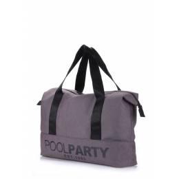 Коттоновая сумка POOLPARTY Pool 12 Grey