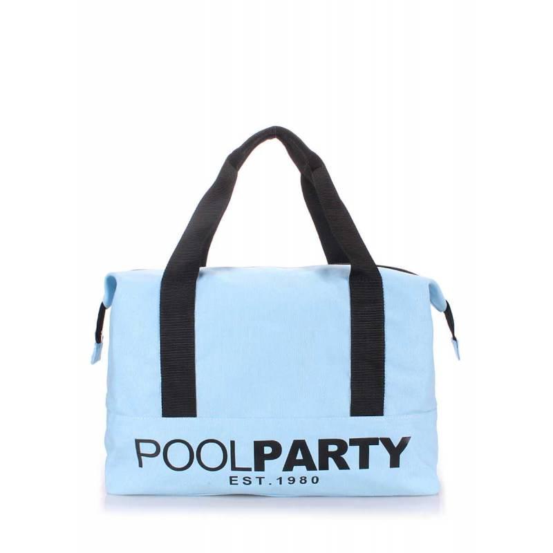 Коттоновая сумка POOLPARTY Pool 12 Lightblue