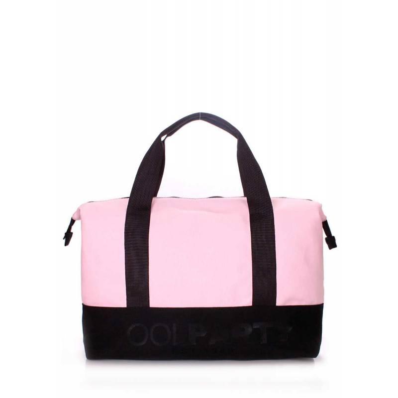 Коттоновая сумка POOLPARTY Pool 12 Rose Black
