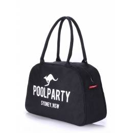 Коттоновая сумка-саквояж POOLPARTY Pool 16 Black