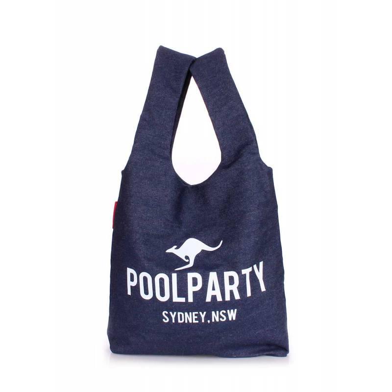 Джинсовая сумка POOLPARTY Pool 20 Jeans