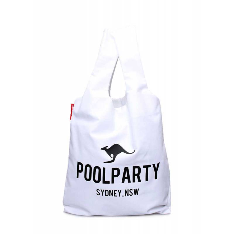 Коттоновая сумка POOLPARTY Pool 20 White