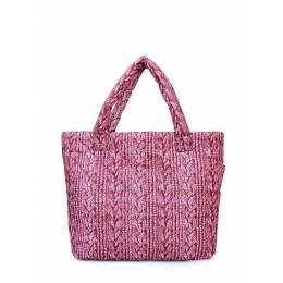 Дутая сумка POOLPARTY с вязкой Pool 68 Red Sweater