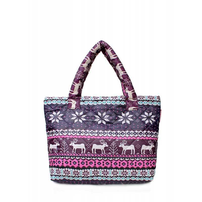 Дутая сумка POOLPARTY с оленями Pool 69 Pink Blue
