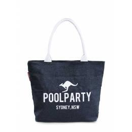 Джинсовая сумка POOLPARTY Pool 7 Jeans