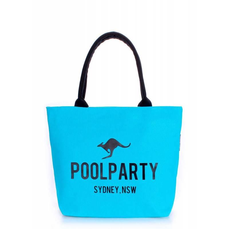Коттоновая сумка POOLPARTY Pool 9 Blue