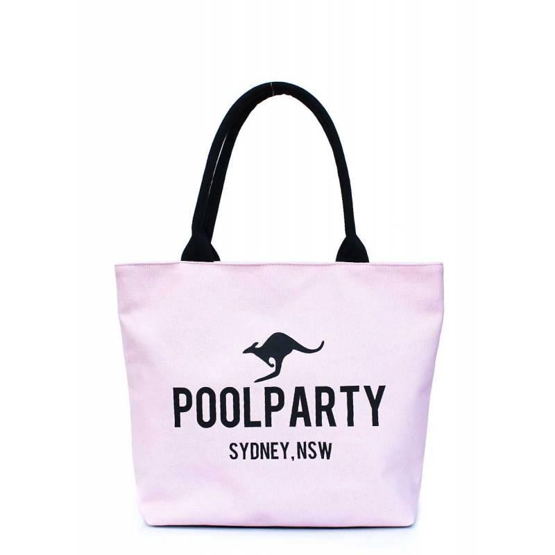 Коттоновая сумка POOLPARTY Pool 9 Rose