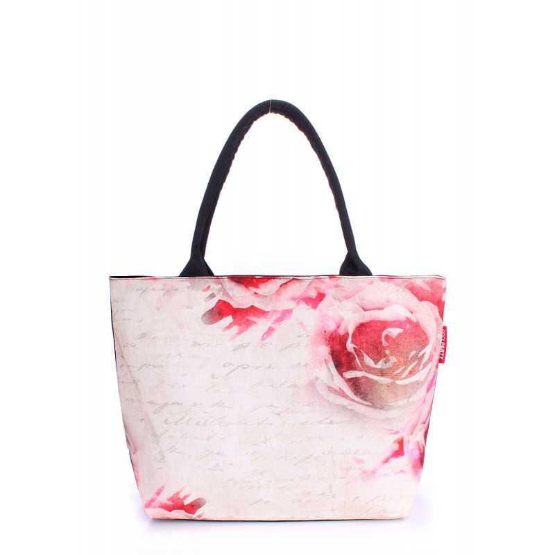Коттоновая сумка POOLPARTY с принтом Journey Flowers