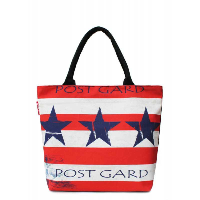Коттоновая сумка POOLPARTY с принтом Journey Stars