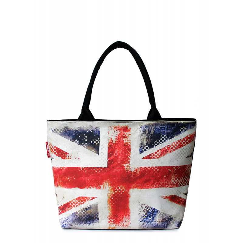 Коттоновая сумка POOLPARTY с принтом Journey UK