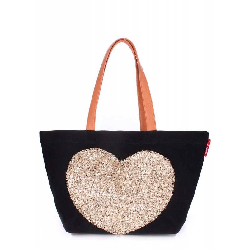 Коттоновая сумка POOLPARTY Love Tote Black