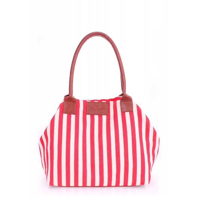 Коттоновая сумка POOLPARTY Navy Red