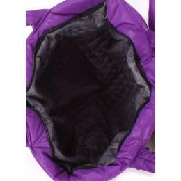 Стеганая дутая сумка POOLPARTY Pool Violet Bow