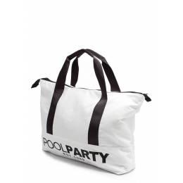 Коттоновая сумка POOLPARTY Pool 12 White