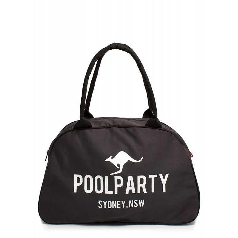 Коттоновая сумка-саквояж POOLPARTY Pool 16 Grey
