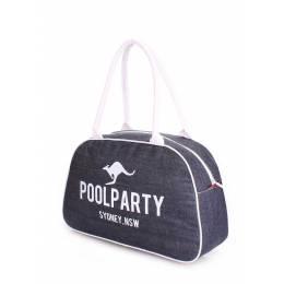 Джинсовая сумка-саквояж POOLPARTY Pool 16 Jeans