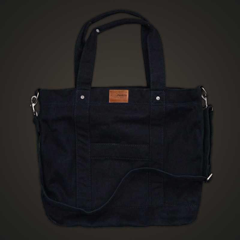 Коттоновая сумка POOLPARTY Pool 6 Black