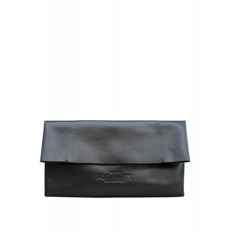 Кожаная косметичка-клатч POOLPARTY 2NITE Cosmeticbag Black