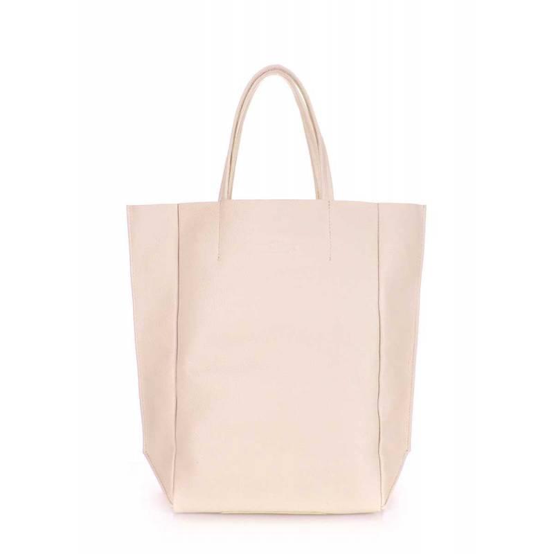 Кожаная сумка POOLPARTY BigSoho Beige
