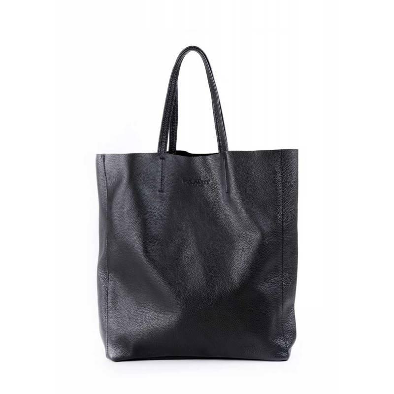 Кожаная сумка POOLPARTY City Black
