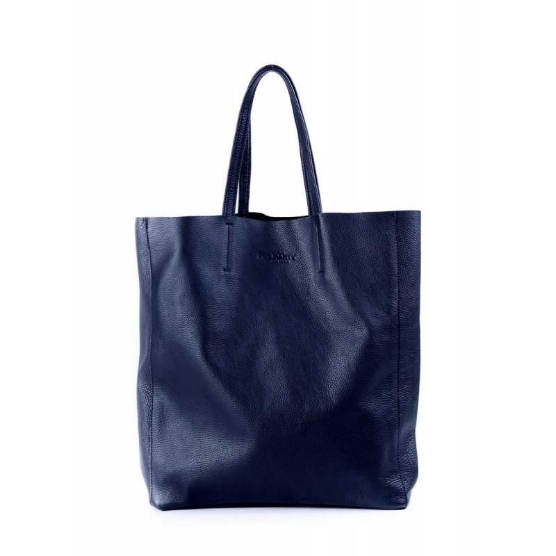 Кожаная сумка POOLPARTY City Darkblue