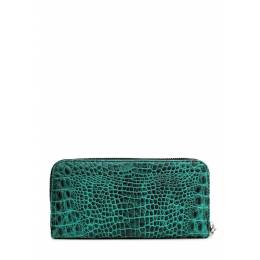 Кожаный кошелек POOLPARTY Crocodile Wallet Green
