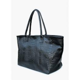 Кожаная сумка POOLPARTY Desire Croco Black