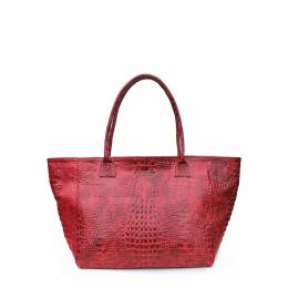 Кожаная сумка POOLPARTY Desire Croco Red