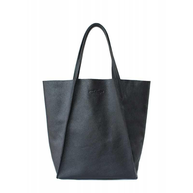 Кожаная сумка POOLPARTY Edge Black