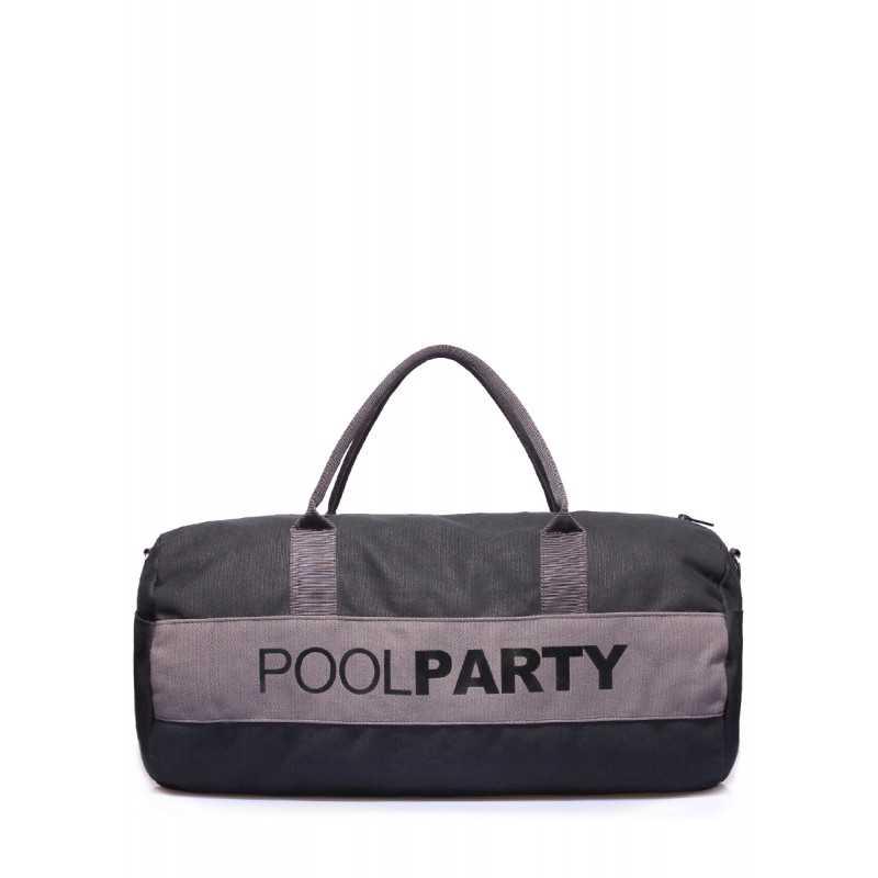 Спортивно-повседневная сумка POOLPARTY Gymbag Black Grey
