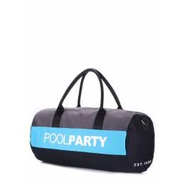 Спортивно-повседневная сумка POOLPARTY Gymbag Grey Blue Black