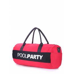 Спортивно-повседневная сумка POOLPARTY Gymbag Red Black