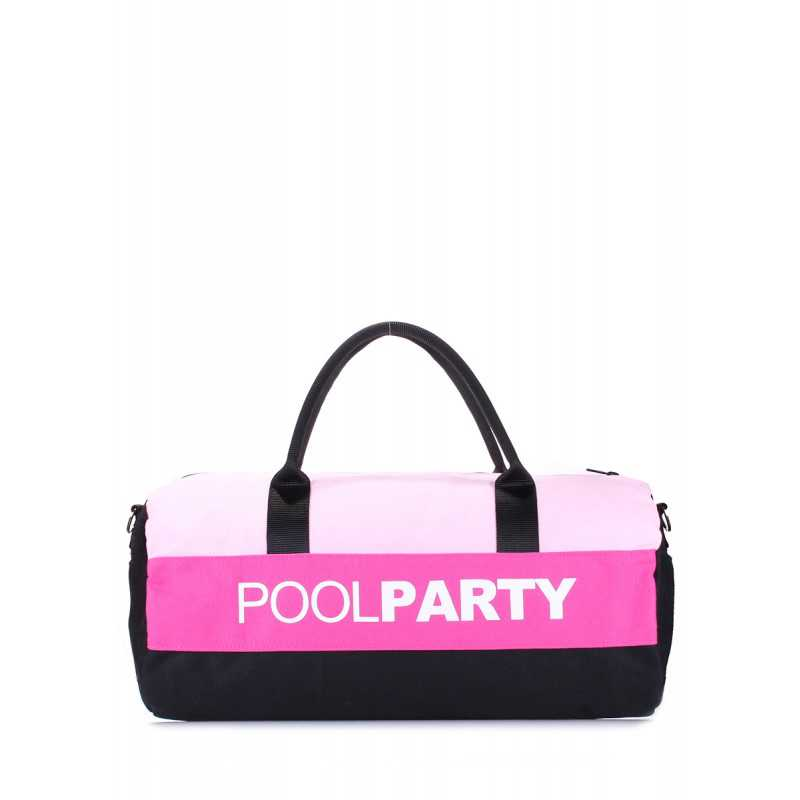 Спортивно-повседневная сумка POOLPARTY Gymbag Rose Pink Black