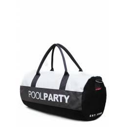 Спортивно-повседневная сумка POOLPARTY Gymbag White Grey Black