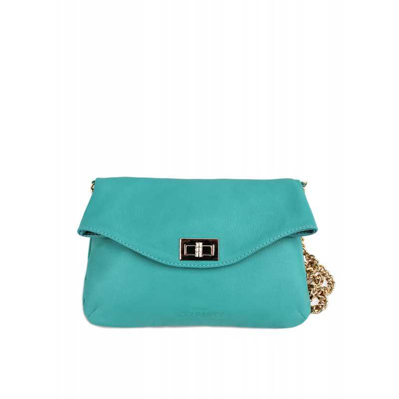 Кожаная сумочка-клатч с цепочкой POOLPARTY Leather Clutch