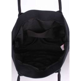 Коттоновая сумка POOLPARTY Paradise Grey Black